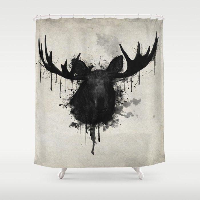 Moose Shower Curtain By Nicklasgustafsson