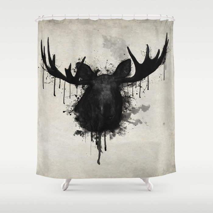 Moose Shower Curtain By Nicklasgustafsson