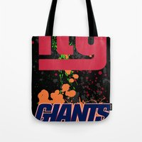 giants Tote Bags featuring ny giants by Dan Solo Galleries
