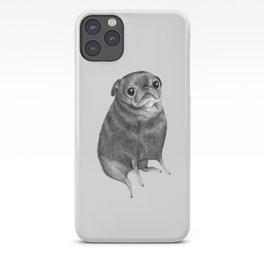 Sweet Black Pug iPhone Case