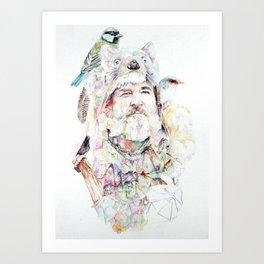 Mt Wellington Man Art Print