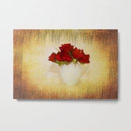 Crimson Roses Metal Print