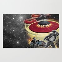 ufo Area & Throw Rugs featuring UFO by Keka Delso
