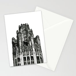 Triptych 3 - Tribune Tower - Original Drawing Stationery Cards