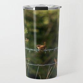 Wren Songbird Bird on a Wire (Troglodytes) Travel Mug