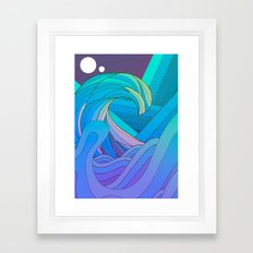 The Many Waves Framed Art Print