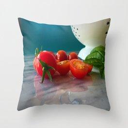 Fallen Cherry Tomatoes Throw Pillow
