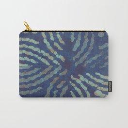Blue Toned Flower Shibori Tie Dye Carry-All Pouch