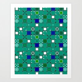 Abstract green Art Print