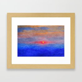 Paper-textured Sunset Framed Art Print