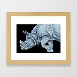 Indian Rhinoceros Framed Art Print