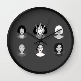 Natalie B&W Wall Clock