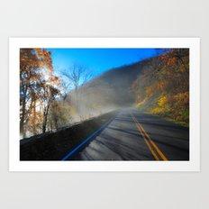 Mist Over Shenandoah Parkway Art Print