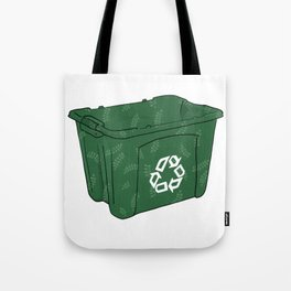 Remember To Recycle Bin Tote Bag