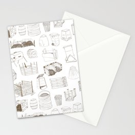 Cover, Contain, COMPOST- 1 of 3 Stationery Cards