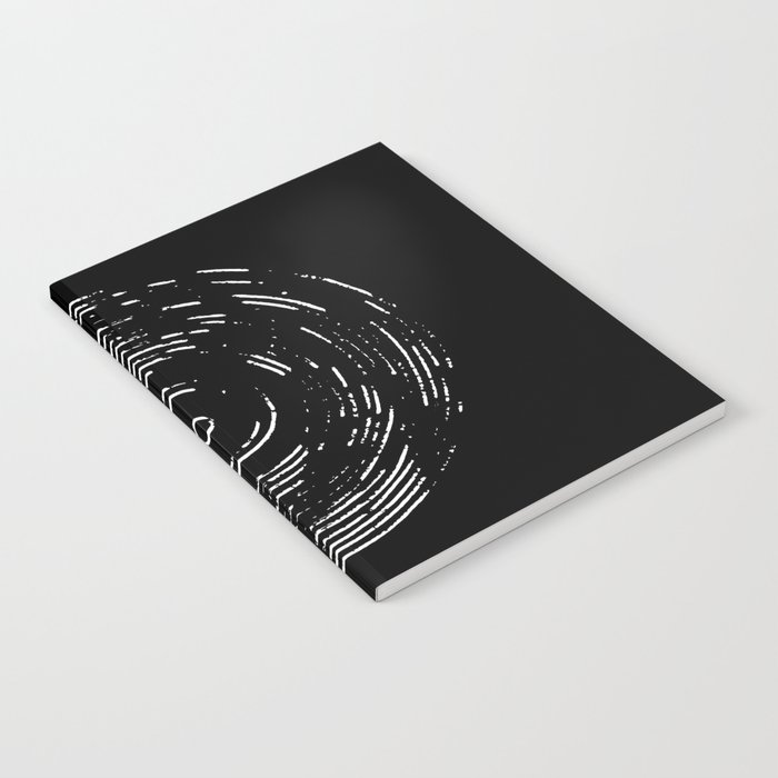 Record White on Black Notebook