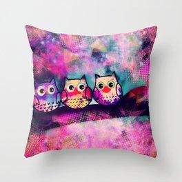 owl-88 Throw Pillow