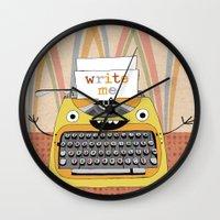 write Wall Clocks featuring write me by Asja Boros