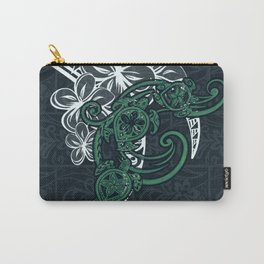 Hawaiin Tribal Turtle Collage Carry-All Pouch