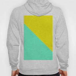 Modern bright lemon and mint color block Hoody
