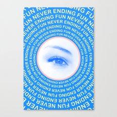 Never ending fun Canvas Print