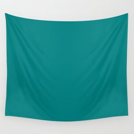 Tropical Teal - Solid Color Collection Wall Tapestry