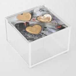 Abstract Hearts Acrylic Box