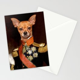 Admiral Chihuahua Stationery Cards