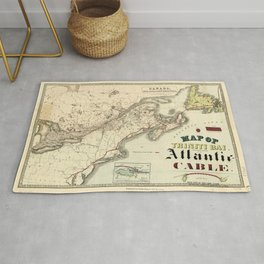 Map of Trinity Bay, Telegraph Station of the Atlantic-Cable (1901) Rug