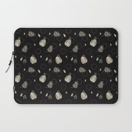 Silver Tropical Summer NEVER LOOK BACK typography Laptop Sleeve