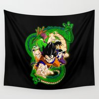 goku Wall Tapestries featuring Goku and Friends by feimyconcepts05