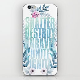 shatter me iPhone Skin