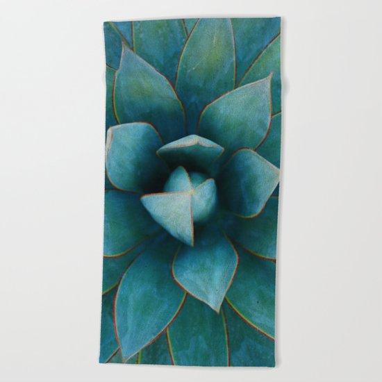Succulent Plant Beach Towel