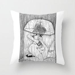 asc 514 - La fille qui aimait la pluie (Rider on the storm) Throw Pillow
