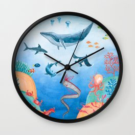 Message from the deep sea Wall Clock