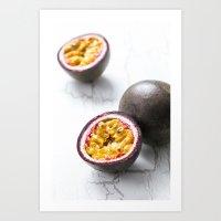 Passionfruit Art Print