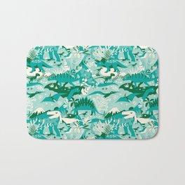 Dino world   blue Bath Mat