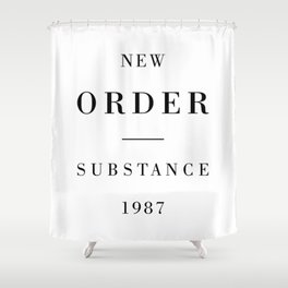 New Order Substance 1987 Shower Curtain