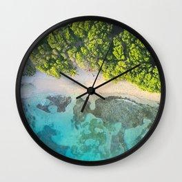 Caribbean Aerial Wall Clock