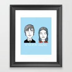 J & C Framed Art Print
