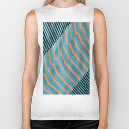 Geometric Abstraction Biker Tank