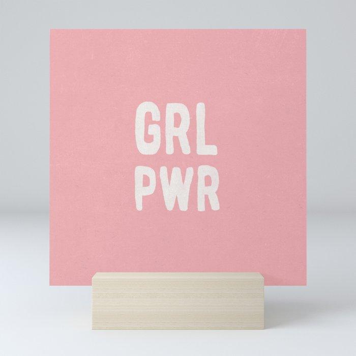 GRL PWR (pink) Mini Art Print