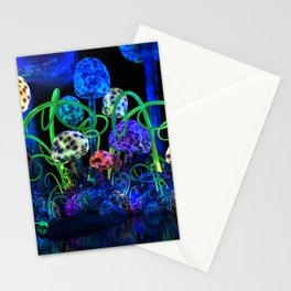Magical mushroom cluster Stationery Cards