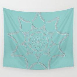 Dot Mandala Light Green - 3D Pointilism Wall Tapestry