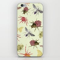 insects iPhone & iPod Skins featuring Insects by Stag Prints