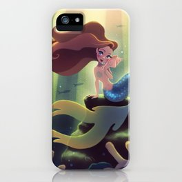 Mermaid With Seashell iPhone Case