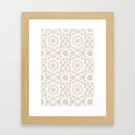 Palm Springs Macrame Lattice Lace Framed Art Print