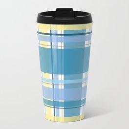 Blue and Yellow Tartan Travel Mug