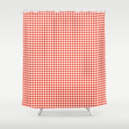 Red Gingham - Vichy Karo groß Farbe Rot-Weiss Shower Curtain
