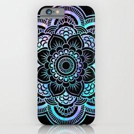 Galaxy Space Mandala Black Pink Lavender Aqua iPhone Case